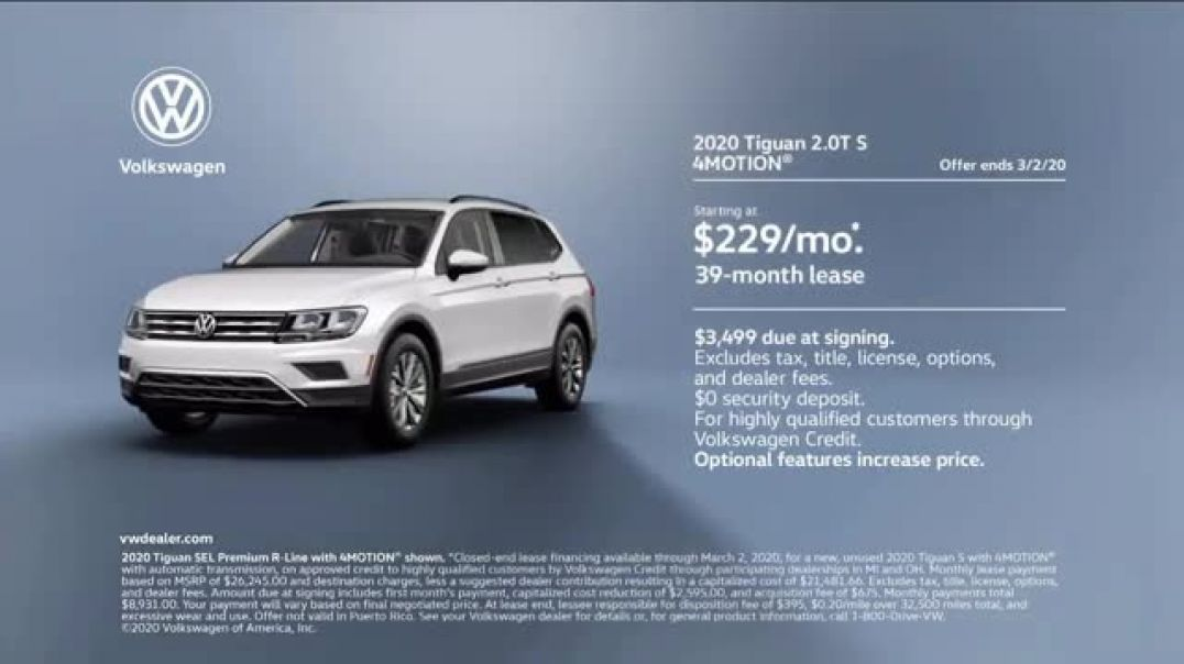2020 Volkswagen Tiguan TV Commercial Ad, Road Conditions.mp4