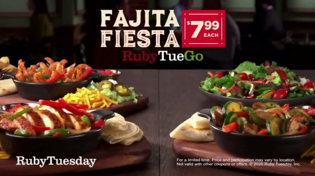 Ruby Tuesday Fajitas Fiesta TV Commercial Ad, Back Delivery.mp4