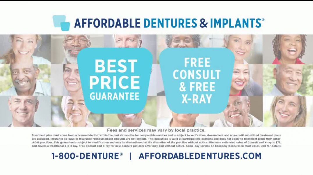 Affordable Dentures TV Commercial Ad, Free Consult and Free XRay.mp4