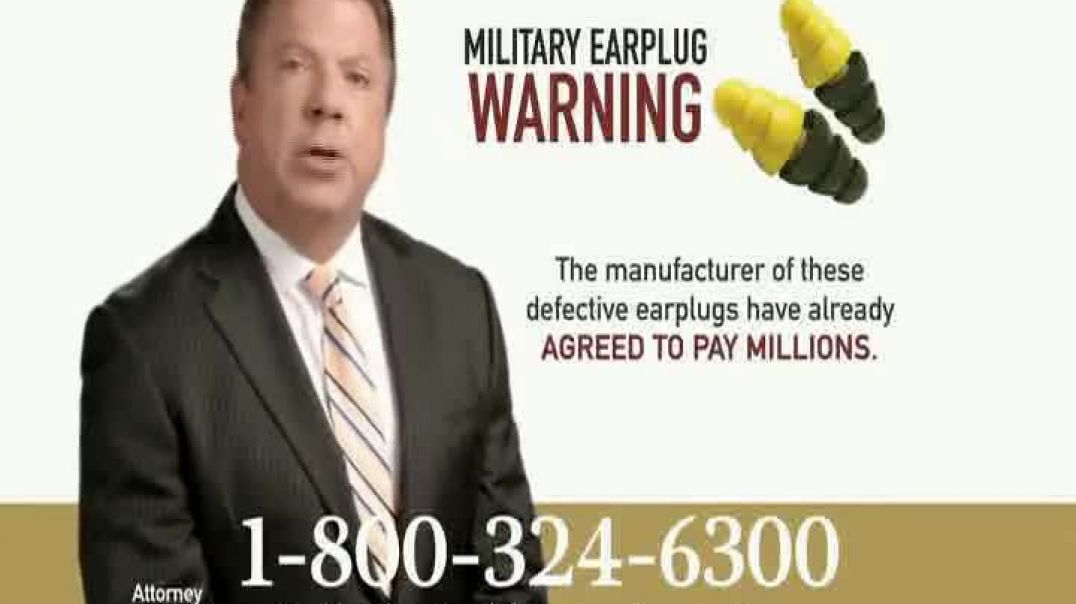 Goldwater Law Firm TV Commercial Ad, Military Earplugs.mp4