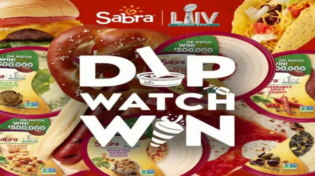 Sabra Super Bowl 2020 Teaser TV Commercial Ad, Dip, Watch, Win Snacks on Snacks