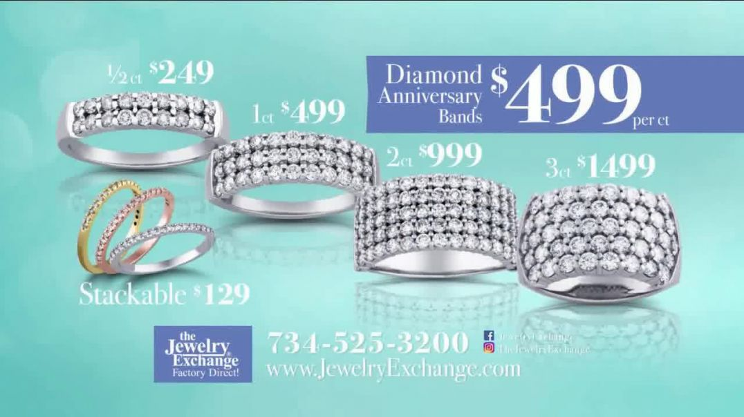 Jewelry Exchange TV Commercial Ad, Be My Valentine Diamond Heart Pendants.mp4