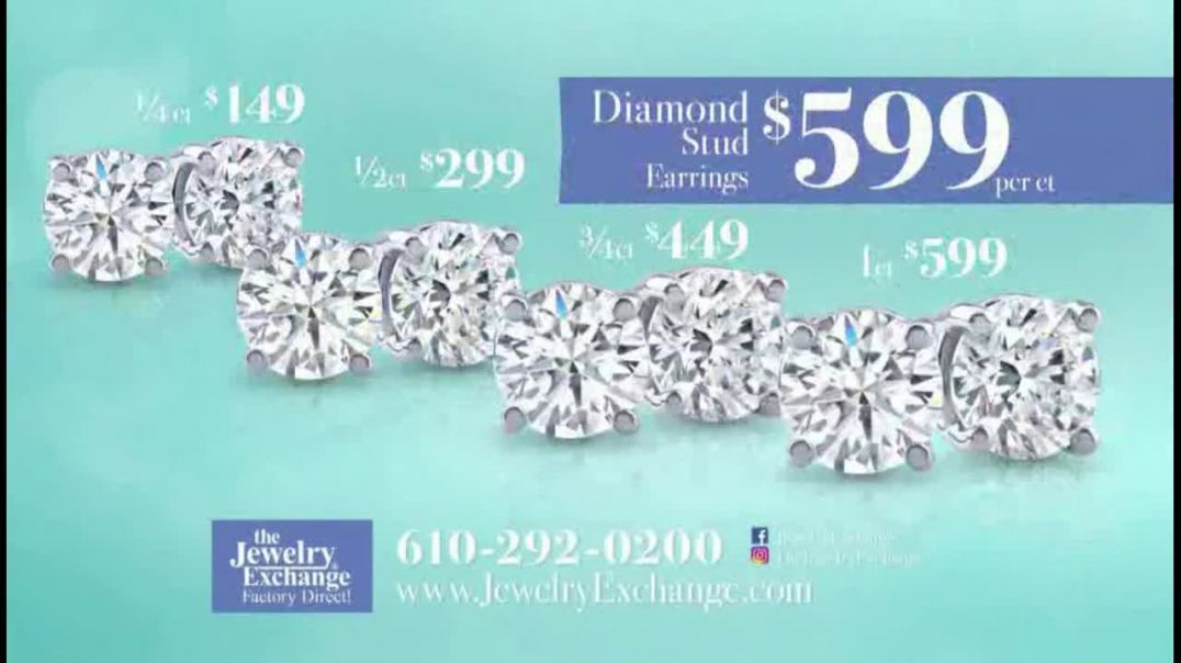 Jewelry Exchange TV Commercial Ad, Be My Valentine Earrings, Stackable Band and Rings.mp4