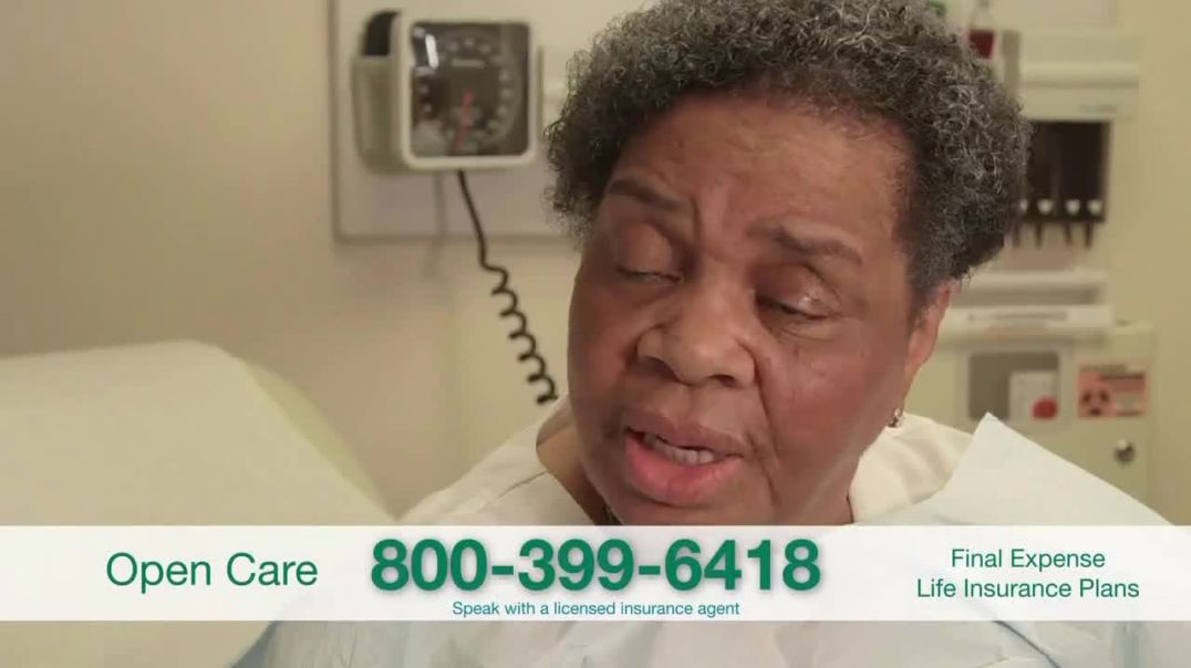 Open Care Insurance Services Final Expense Life Insurance Coverage TV Commercial Ad, Peace $25,000.m