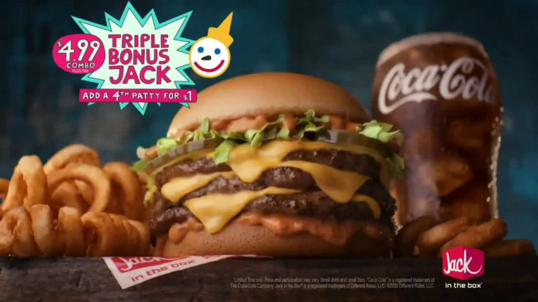 Jack in the Box Triple Bonus Jack Combo TV Commercial Ad, Catch a Ride With the Taur.mp4