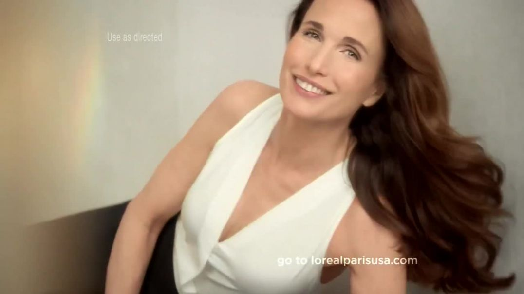 LOreal Paris Visible Lift Blur Foundation TV Commercial Ad, Feat. Andie MacDowell.mp4