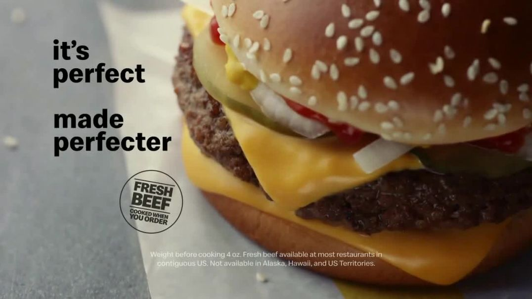 McDonalds Quarter Pounder TV Commercial Ad, Perfect Made Perfecter Cheese.mp4