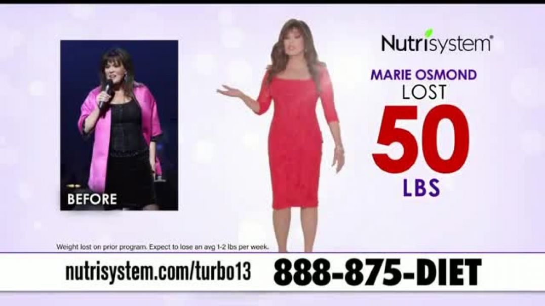 Nutrisystem Turbo13 TV Commercial Ad, Boost Your Metabolism Featuring Marie Osmond.mp4