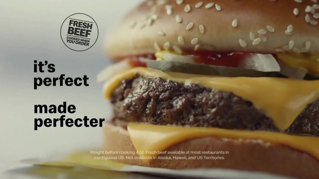 McDonalds Quarter Pounder TV Commercial Ad, Perfect Made Perfecter Onions.mp4
