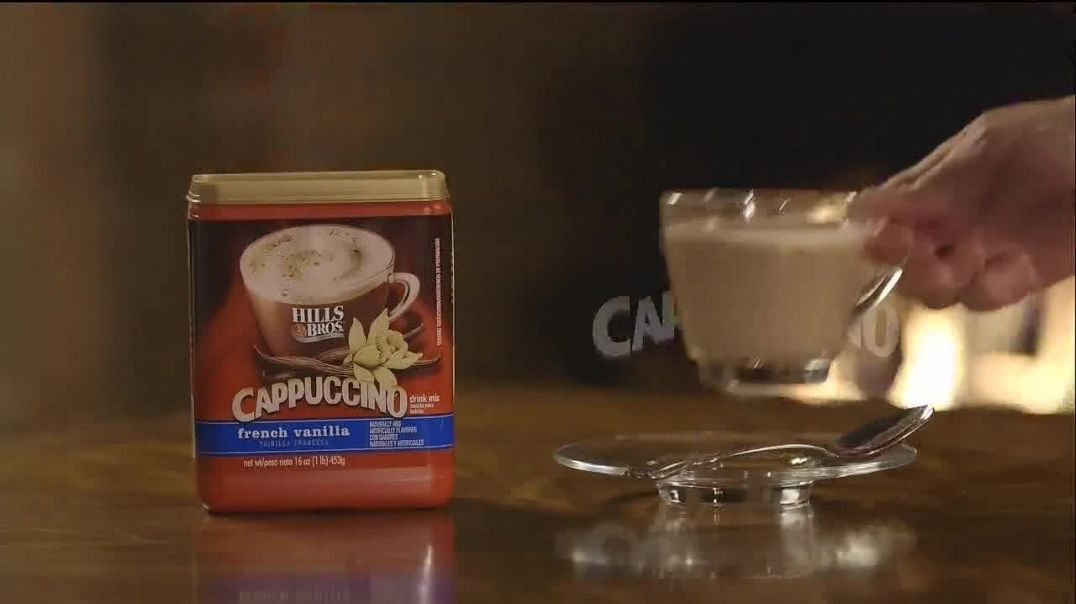 Hills Brothers French Vanilla Cappuccino TV Commercial Ad, Leave Cares Behind.mp4