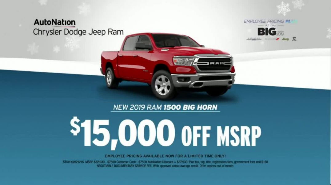 AutoNation Year End Event TV Commercial Ad, Employee Pricing Plus 2019 Ram 1500.mp4