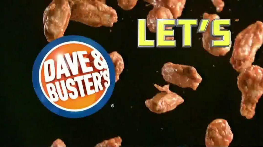 Dave and Busters Unlimited Wings & Video Game Play TV Commercial Ad, Lets Go Wings $19.9