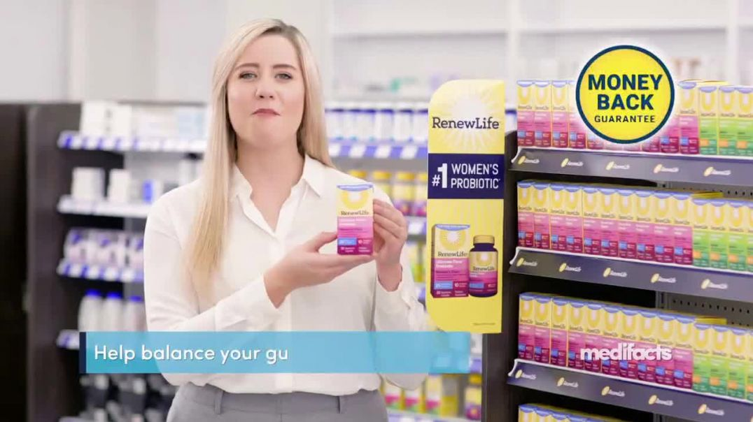 Renew Life Ultimate Flora Probiotic Womens Care TV Commercial Ad, Digestive Issues 25 Percent Off.mp
