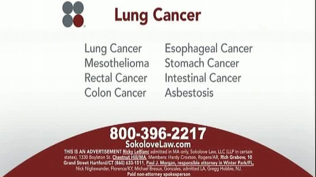 Sokolove Law TV Commercial Ad, Lung Cancer Asbestos Exposure.mp4