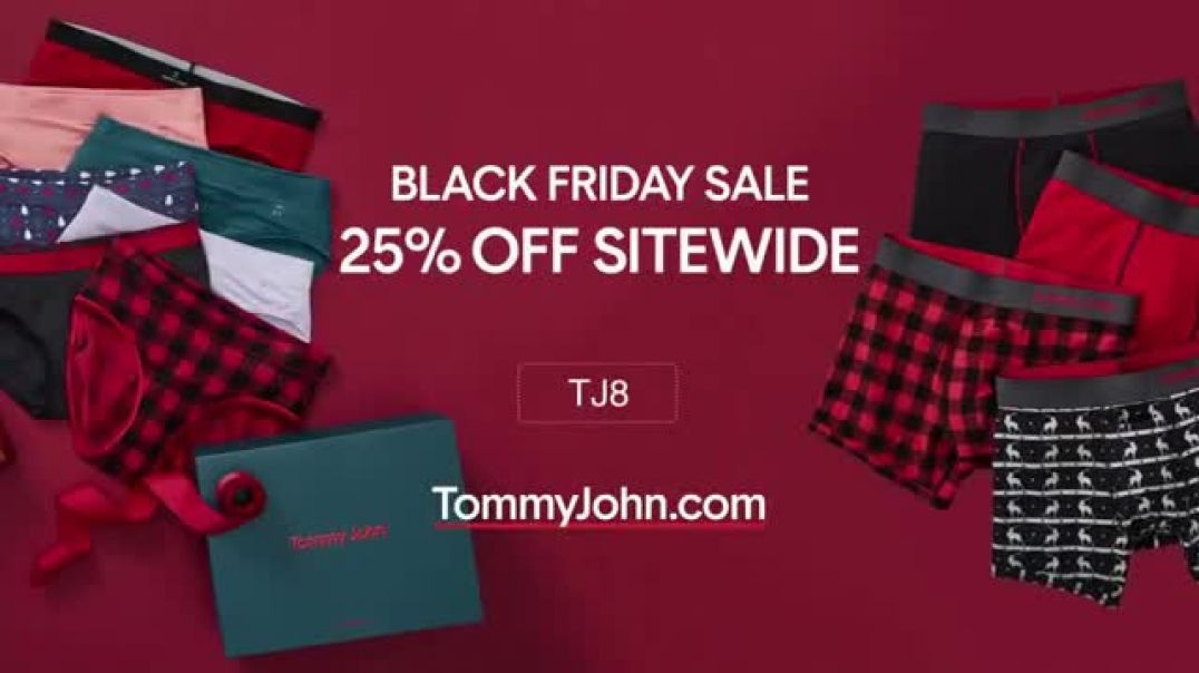 Tommy John Black Friday TV Commercial Ad, 25 Percent Off Sitewide.mp4