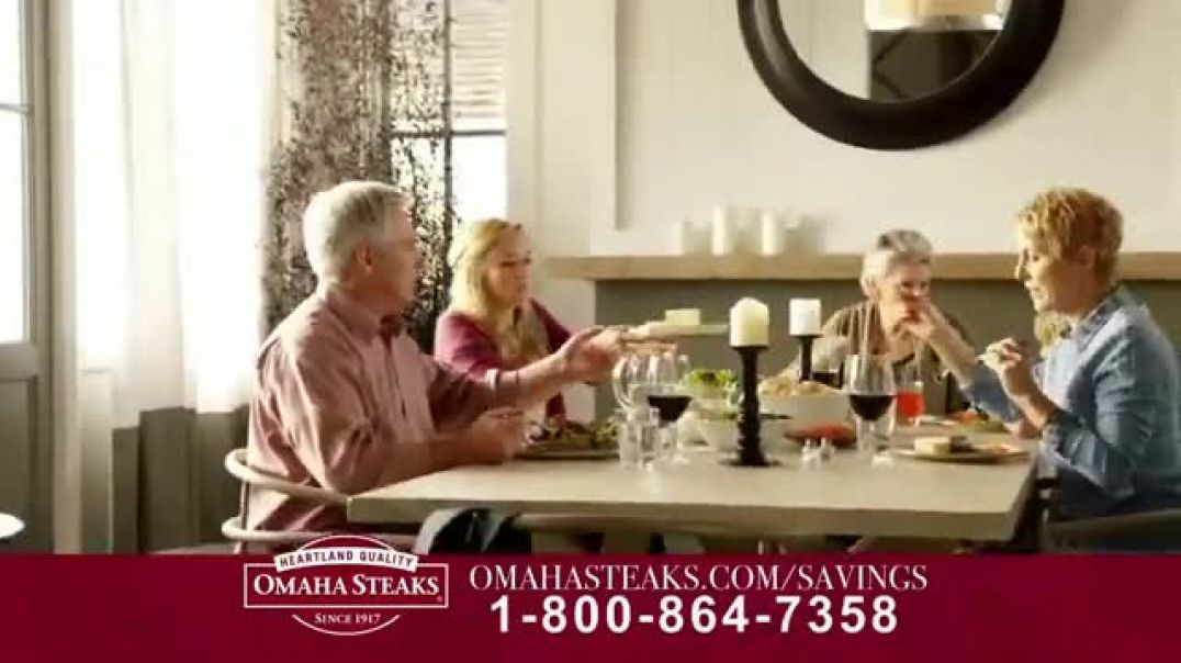 Omaha Steaks Savings Celebration Package TV Commercial Ad, Friends and Family.mp4