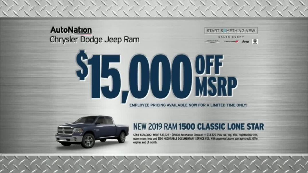 AutoNation New Year New Truck Event TV Commercial Ad, Start Something New Event 2019 Ram 1500 Lone S