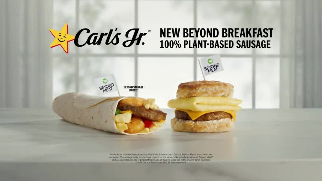 Carls Jr. Beyond Breakfast Sandwiches TV Commercial Ad, Stop Drinking Plants.mp4