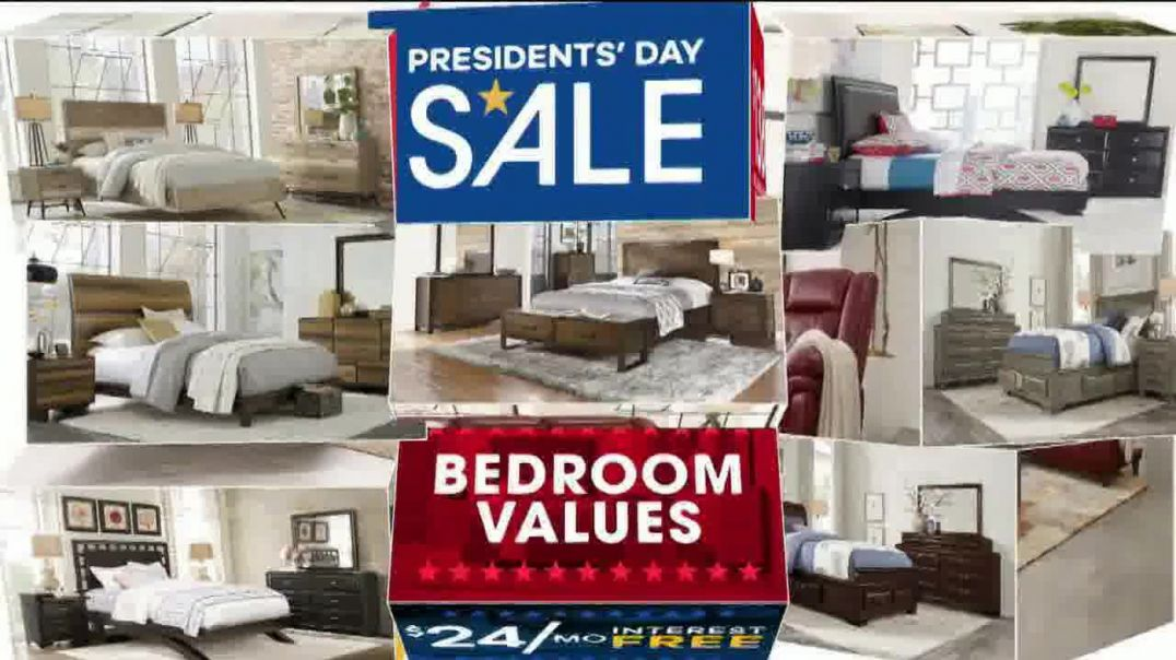 Rooms to Go Presidents Day Sale TV Commercial Ad, Living Rooms, Bedrooms & Dining Rooms.