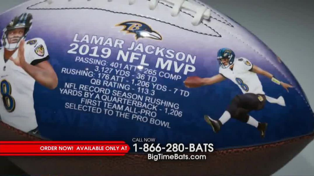 Big Time Bats TV Commercial Ad, 2019 NFL MVP Art Football.mp4