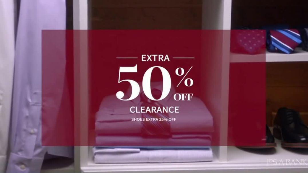 JoS. A. Bank Super Tuesday Sale TV Commercial Ad, 70 Percent Off Suits, Shirts and Clearance