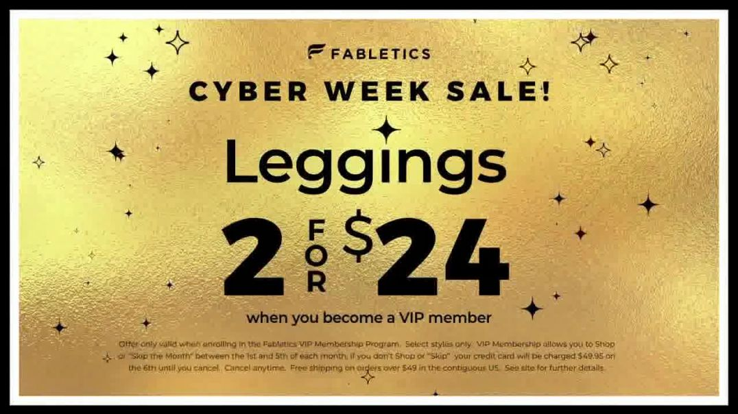 Fabletics.com Cyber Week Sale TV Commercial Ad, All New Line.mp4