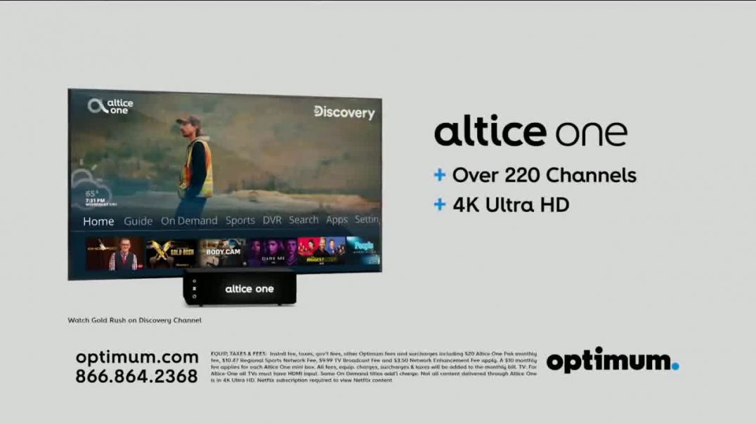 Optimum Altice One + Internet Commercial Ad, New Years $64.99 a Month.mp4