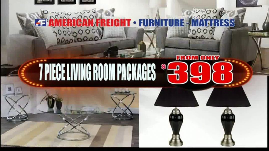 American Freight TV Commercial Ad, Everything Must Go Bedrooms, Living and Dining Rooms.mp4