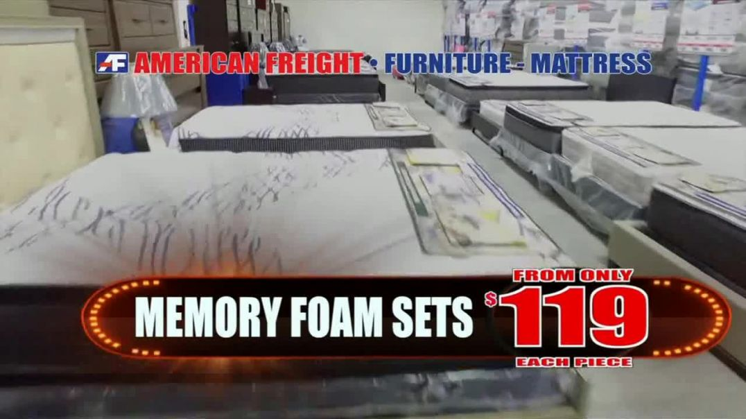 American Freight TV Commercial Ad, Everything Must Go Three Rooms of Furniture.mp4