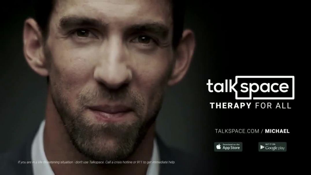 Talkspace TV Commercial Ad, A Great Therapist Save $100 Featuring Michael Phelps.mp4