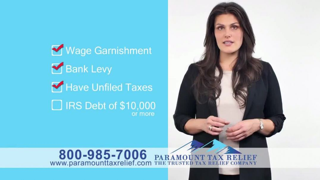 Paramount Tax Relief TV Commercial Ad, IRS Debt