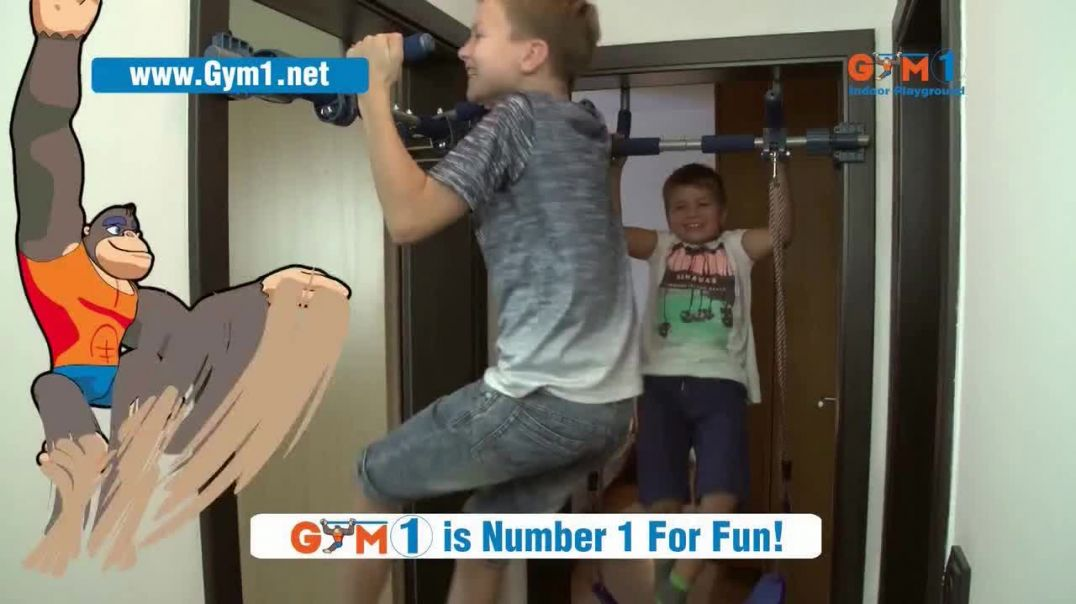 Gym1 Indoor Playground TV Commercial Ad, Swing, Climb, Play INDOORS $159.95.mp4