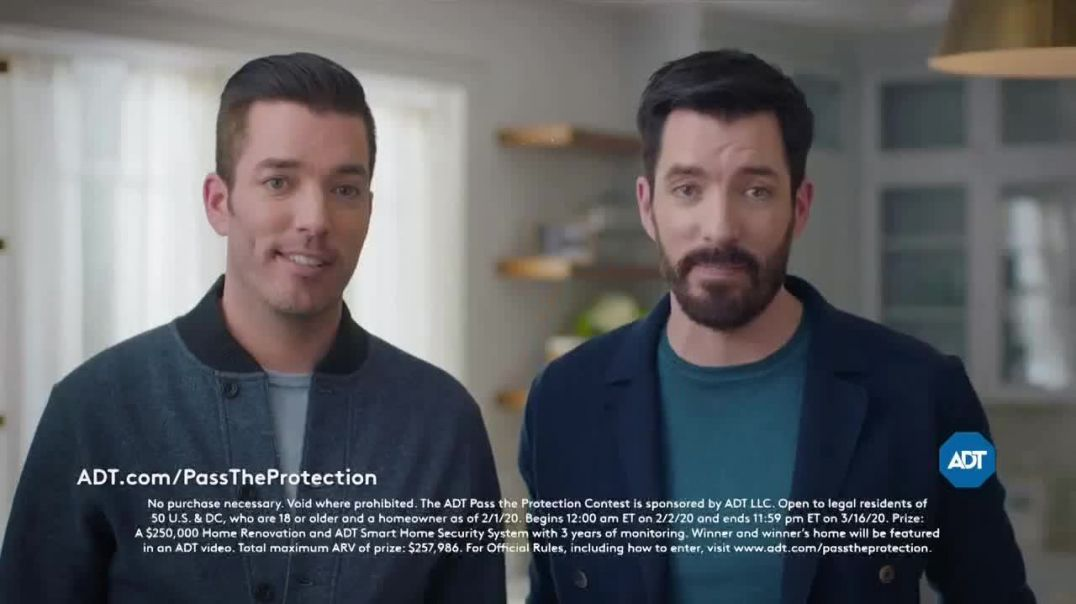 ADT Pass the Protection TV Commercial Ad, Smart Home Security System Featuring Jonathan Scott, Drew