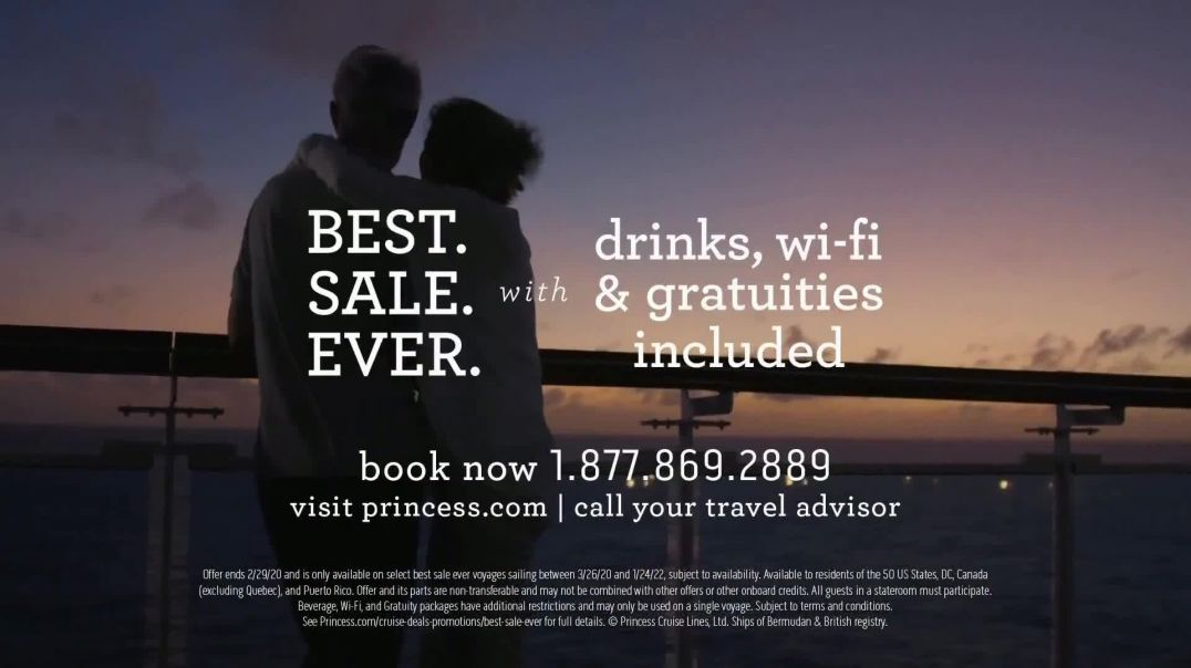 Princess Cruises Best Sale Ever TV Commercial Ad, The Moments That Bring You Closer Together.mp4