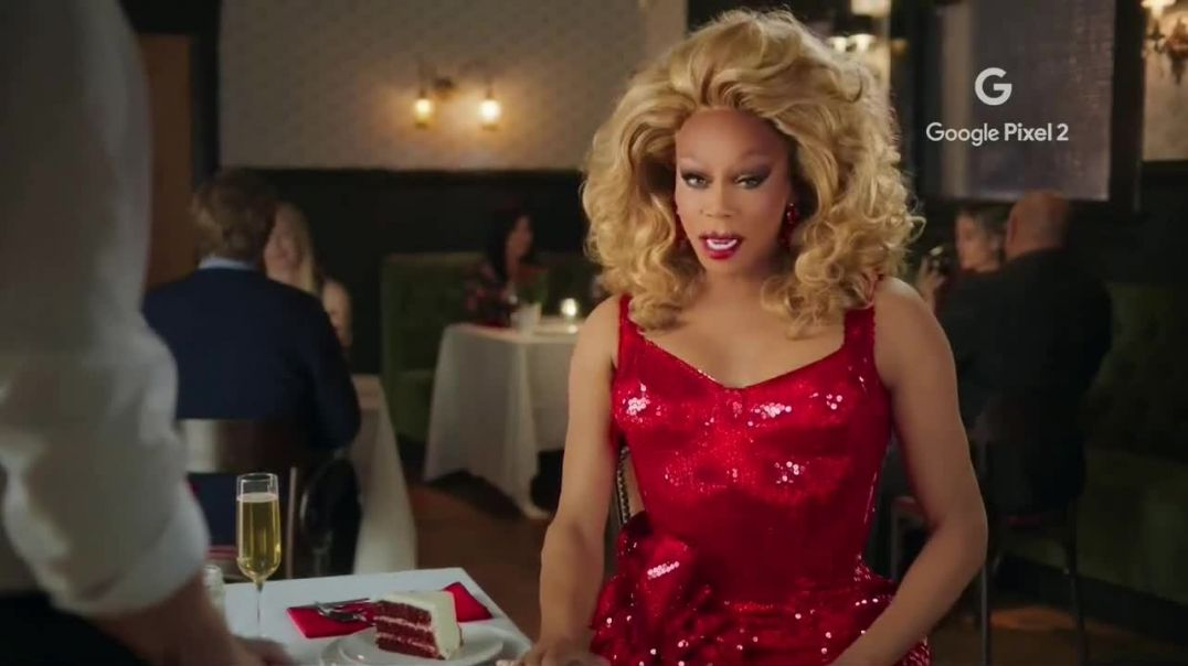 Google Pixel 2 TV Commercial Ad, VDay Featuring RuPaul.mp4