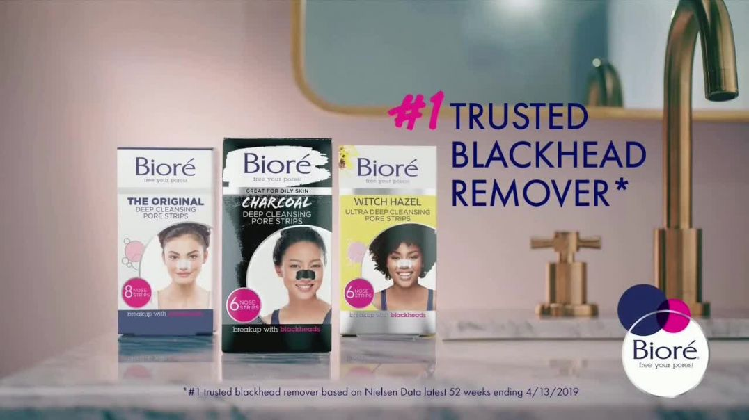Bioré Charcoal Deep Cleansing Pore Strips TV Commercial Ad, Oddly Satisfying Results