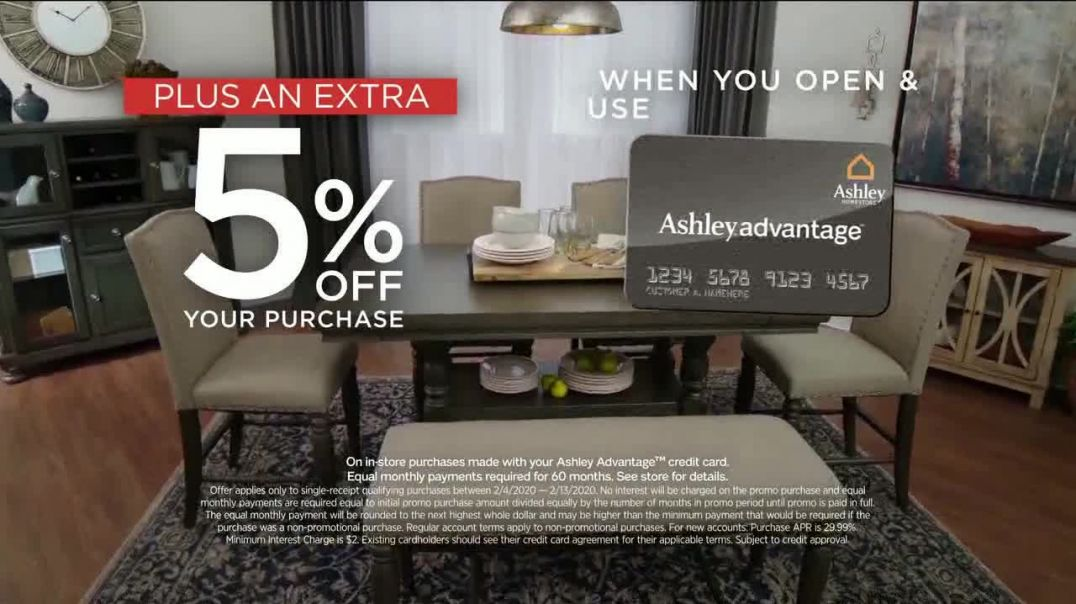 Ashley HomeStore Presidents Day Sale TV Commercial Ad, 50 Percent Off Hot Buys Song by Midnight RIot