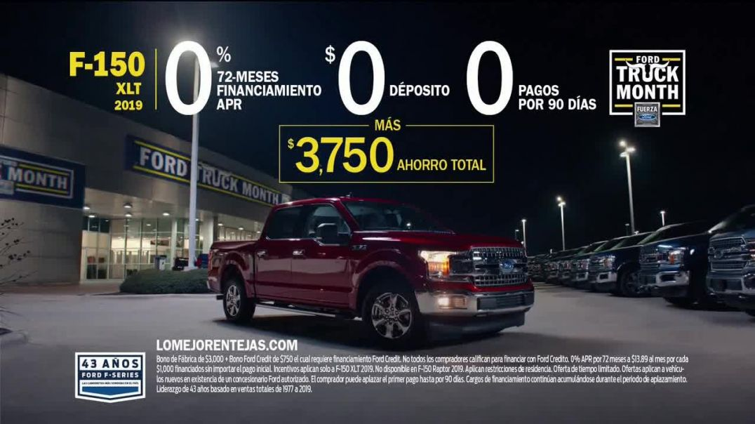 Ford Truck Month TV Commercial Ad, F150 al aire libre [Spanish].mp4