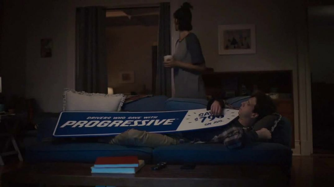 Progressive TV Commercial Ad, Sign Spinner Sleep