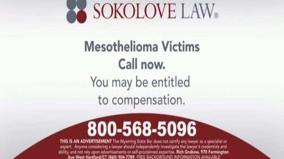 Sokolove Law TV Commercial Ad, Mesothelioma Only Known Cause.mp4