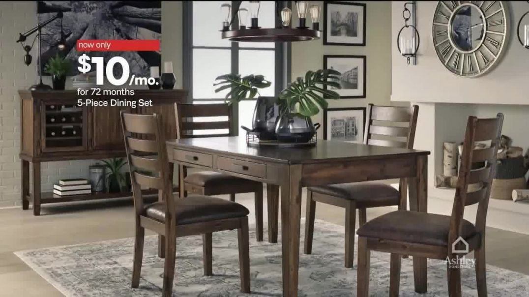 Ashley HomeStore Presidents Day Sale TV Commercial Ad, Five Piece Dining Set Song by Midnight Riot.m