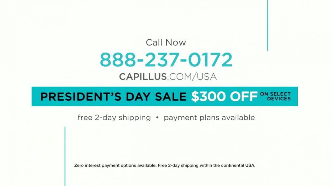 Capillus Presidents Day Sale TV Commercial Ad, Save $300.mp4