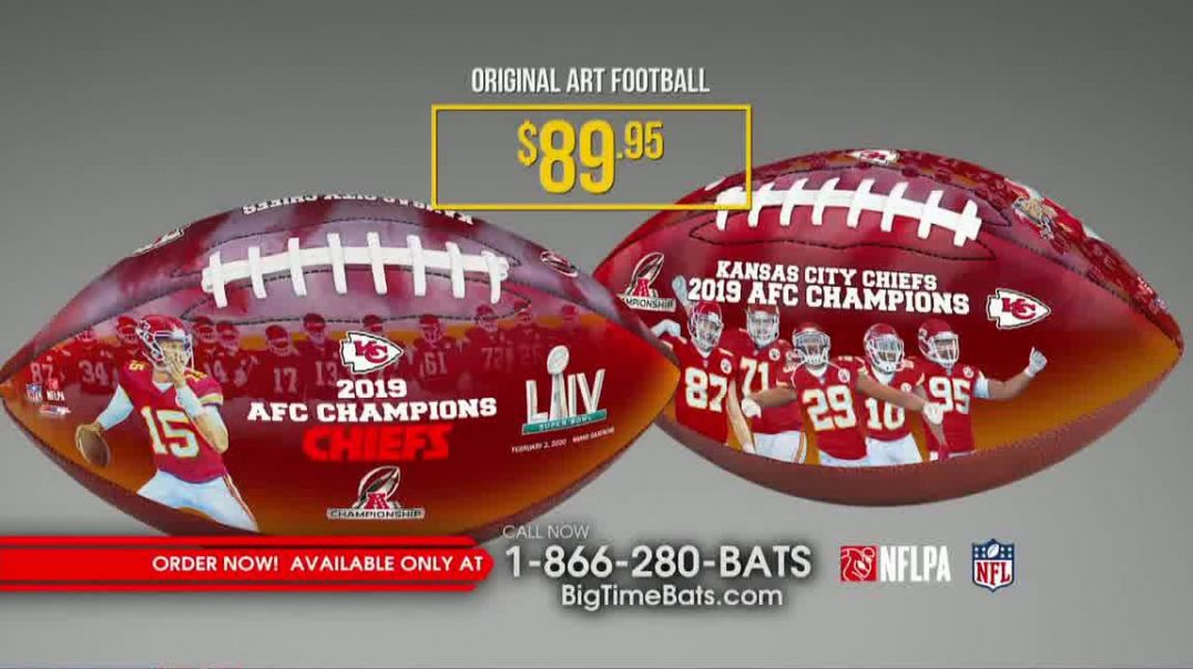 Big Time Bats TV Commercial Ad, Chiefs 2019 AFC Champions Footballs