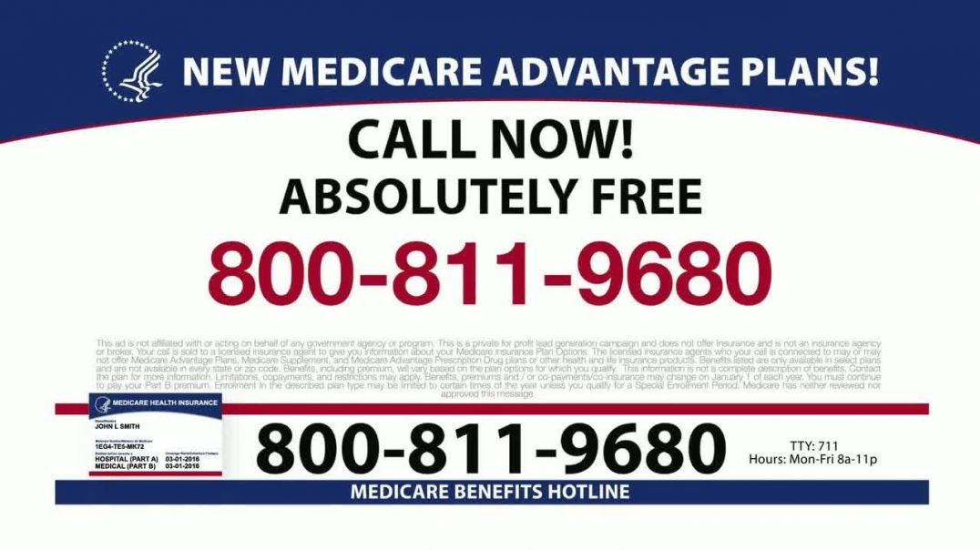 Medicare Benefits Helpline TV Commercial Ad, Plans Available