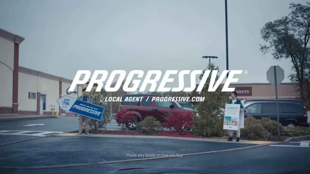 Progressive TV Commercial Ad, Sign Spinner Competitor