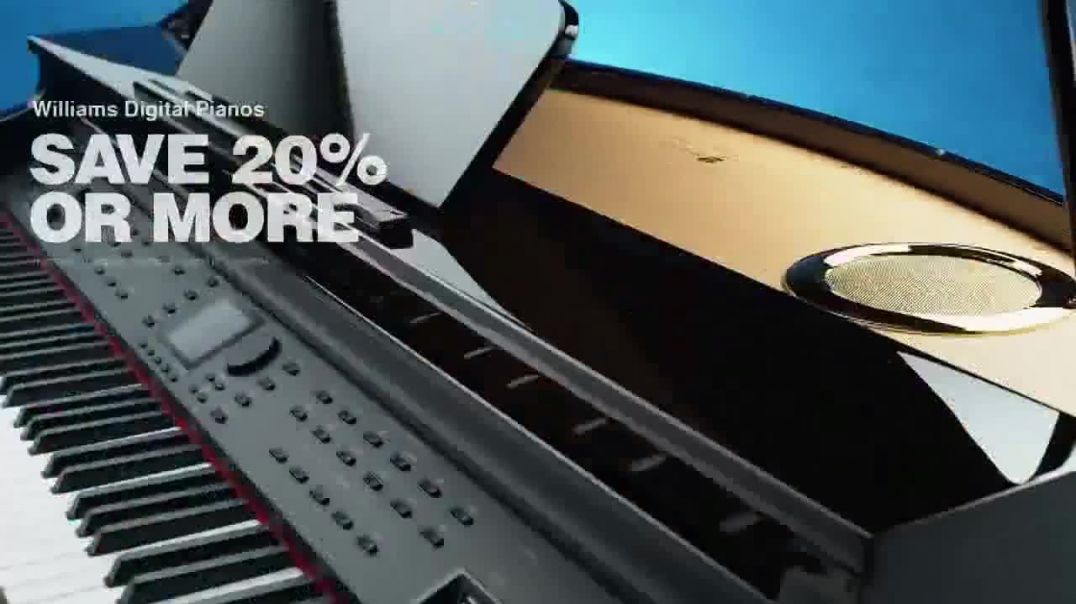 Guitar Center Presidents Day Sale TV Commercial Ad, You Want Gear Piano & Speaker.mp4