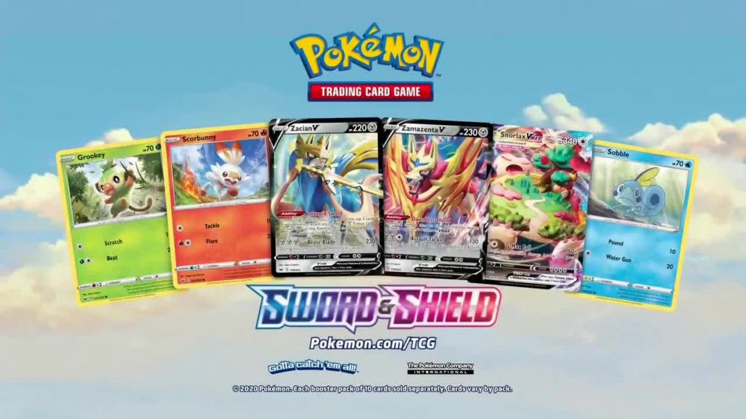 Pokemon TGC Sword & Shield TV Commercial Ad, Here They Come