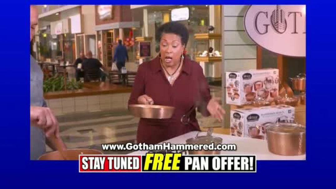 Gotham Steel Hammered Collection TV Commercial Ad, Free Egg Pan $29 99.mp4