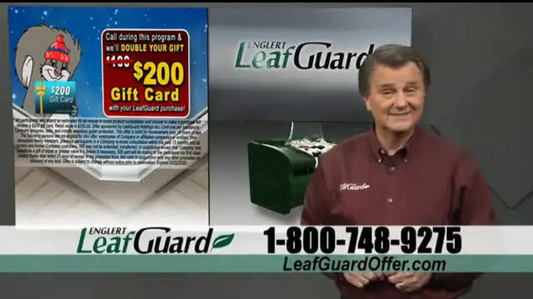 LeafGuard Winter Half Off Sale TV Commercial Ad, Whats In Your Gutters $25 Gas Card.mp4