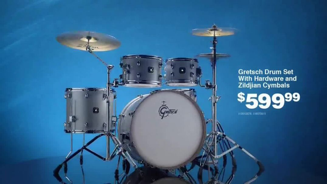Guitar Center Presidents Day Sale TV Commercial Ad, You Want Gear Drum Set.mp4